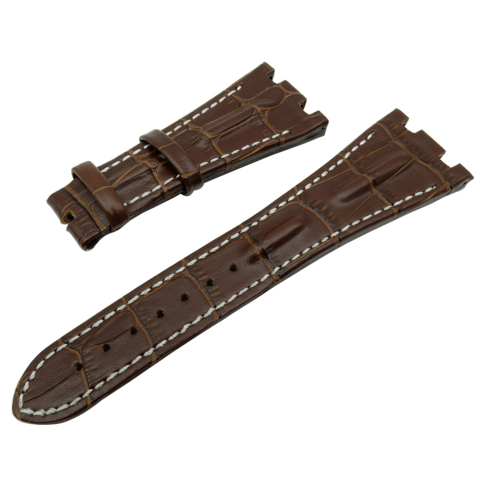 For AP for Piguet  Replacement Watchband  And Tool  28mm Handmade Genuine Leather Wacth Strap Band