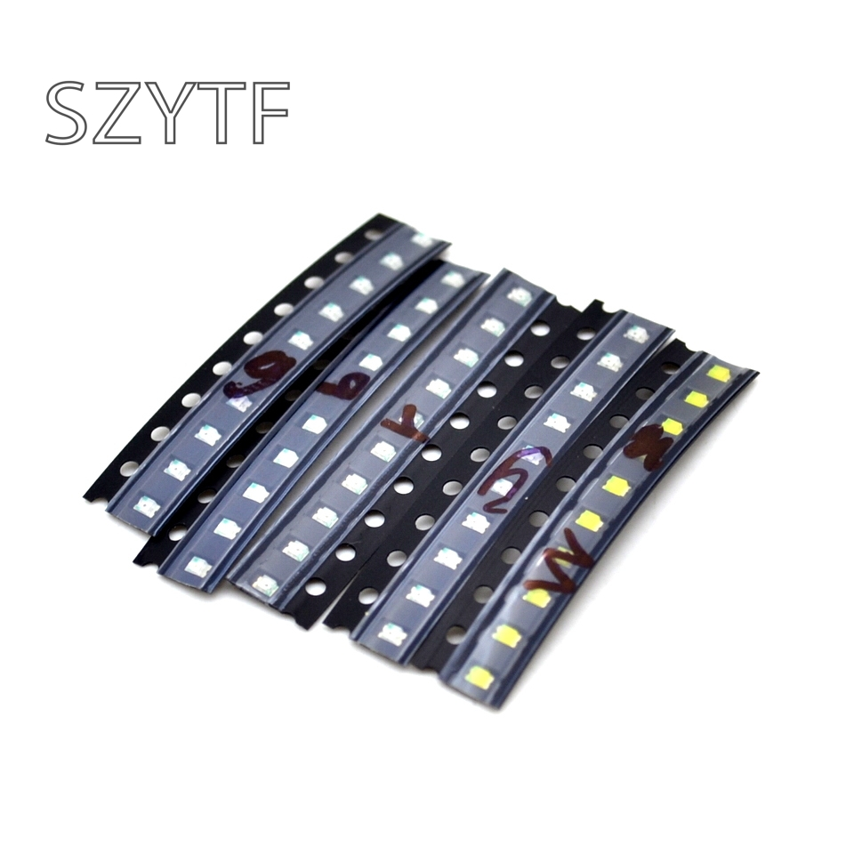 500pcs/lot 0805 LED Component Packages Red Green Blue White Orange (50pcs) SMD LED