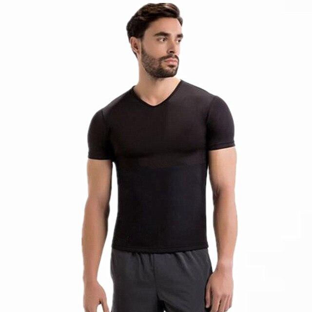 f0f6cb5b154a4 Hot Men s body Shapers Neoprene Waist Trainer Corsets Sweat Fitness  Slimming Shirt Bodysuit Modeling Strap Workout Undershirt