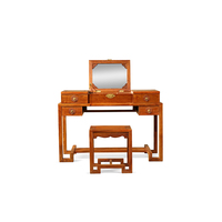 Makeup Dressing Table Vanity and Stool Set Mahogany furniture, hedgehog, rosewood 2pcs/set