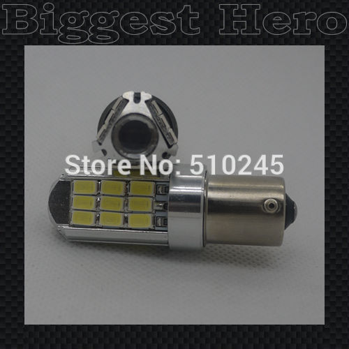 100X new arrival BA15S 1156 7W Car Auto Vehicle 5630/5730 27 SMD LED Turning Signal Lamp Bulb Car Auto 12V bulb free shipping