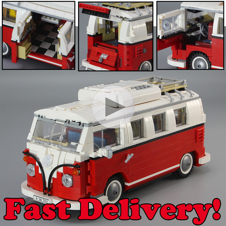 Lepin Technic Creator Volkswagen T1 Camper Van Mini Model Cooper Beetle Building Blocks Bricks Kits Toys for children kids 10220 lepin 20054 4237pcs the moc technic series the remote control t1 classic volkswagen camper set 10220 building blocks bricks toys