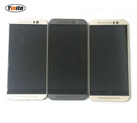 Used 5 Grey Gold For HTC ONE M9 M9u M9v M9s Smartphone LCD Display Digitizer Touch