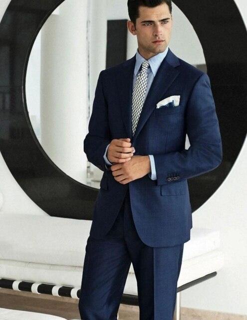 (Blazer + Pant) Formal Slim Fit Hombres Traje Por Encargo Esmoquin de Boda Para Hombre Trajes Con Pantalones de Negocios Desgaste Del Partido Ocasión Especial