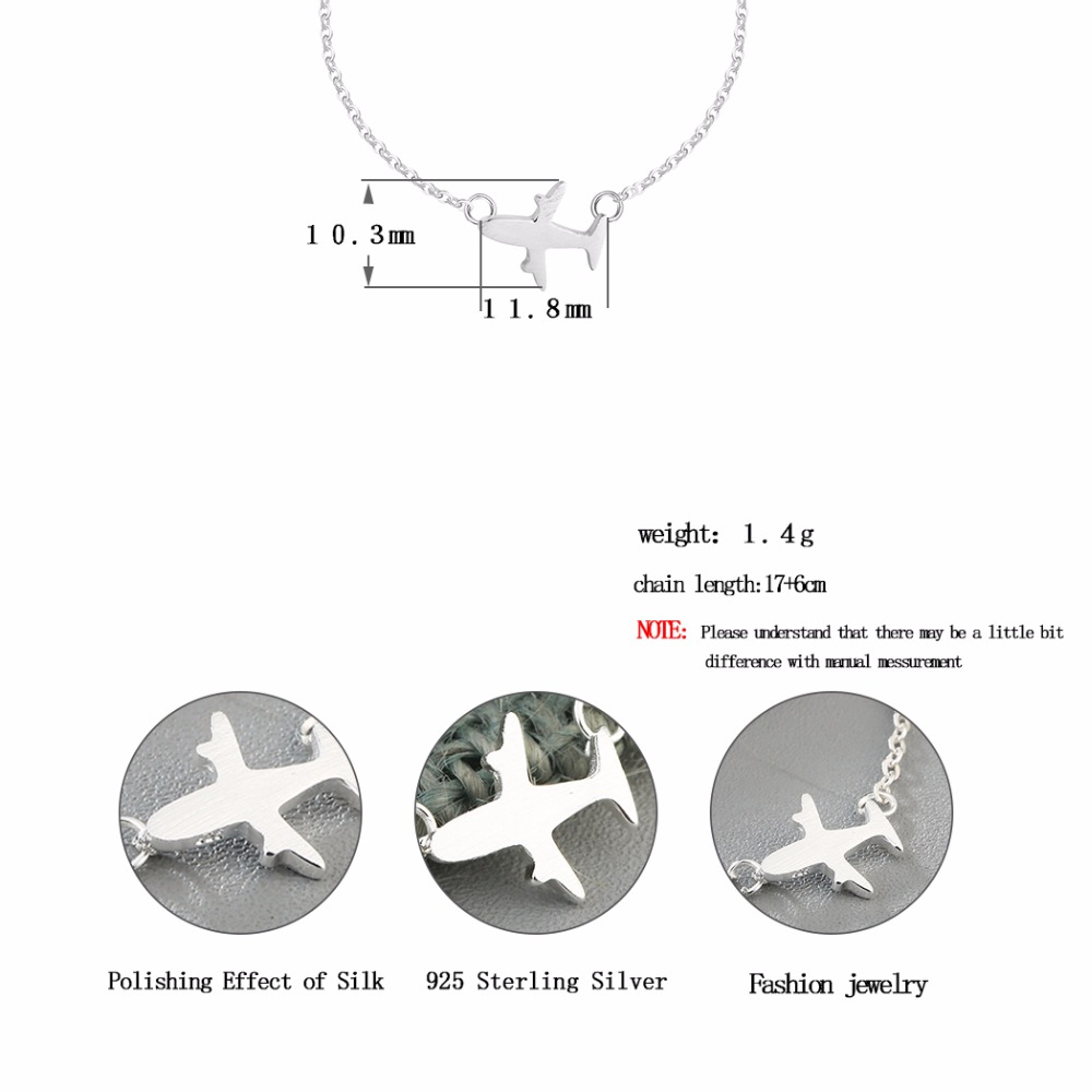 diagram origami bracelet 95 dodge ram radio wiring chandler 2017 925 sterling silver plane brushed aircraft airplane charm bangle 7 inch chain link cuff jewelry in bracelets