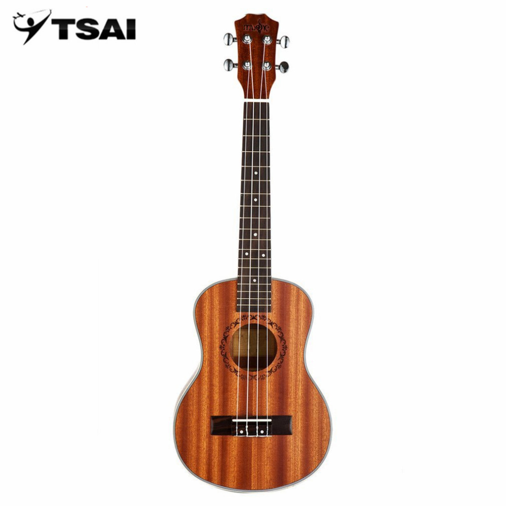 TSAI Mini 21/23 Inch Four Stringed Ukulele Sapele Indonesia Rosewood Fretboard Stringed Instrument 4 Strings Guitar For Beginner tsai chin taipei
