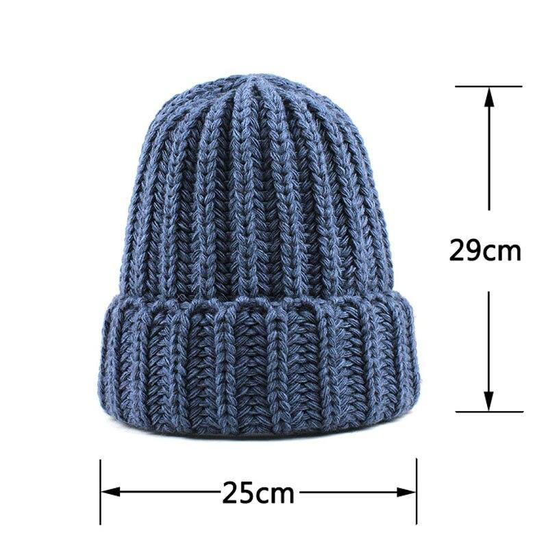 [FLB] Knitting wool ball skullies beanies Casual streetwear Thick warm hat cap Women autumn winter 2020 cute beanie hat 17042 5