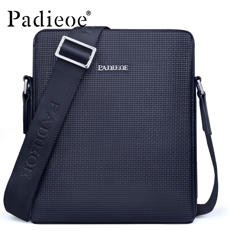 ФОТО Padieoe New Fashional Men's Casual PVC Shoulder Bag Classical Designer Crossbody Bag High Quality Casual Messenger Bags For Male