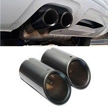 Комплект из 2 предметов, Черный Авто Нержавеющая сталь глушитель выхлопной трубы советы для Audi A4 B8 Q5 1,8 т 2,0 2009 заднего хвост горло лайнер