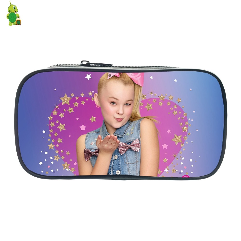 JOJO Siwa Pencil Case For Boys Girls Pop Star JoJo Printed Stationery Storage Bags Cosmetic Bag School Supplies Makeup Bag