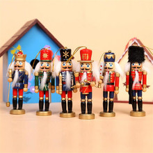 6PCS/Set Christmas Gift Wooden Cute Human Mannequin Christmas Model For Artist Sketching Hand Puppet Home Decoration  JJ047