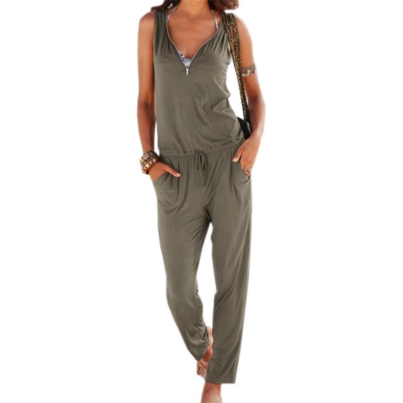 Womenu0026#39;s sexy sleeveless summer loose jumpsuit on tiaremarket.com