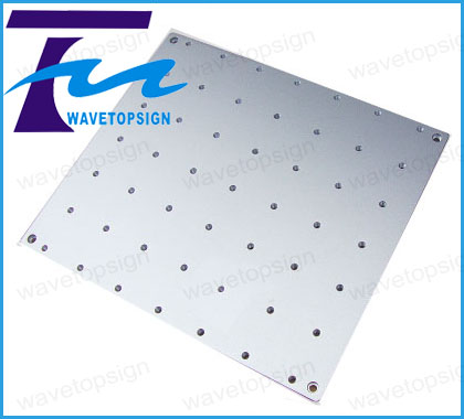 ФОТО laser mark machine flat worktable  laser marking machine panel 320x280x10mm  pitch hole 44mm  m6 hole