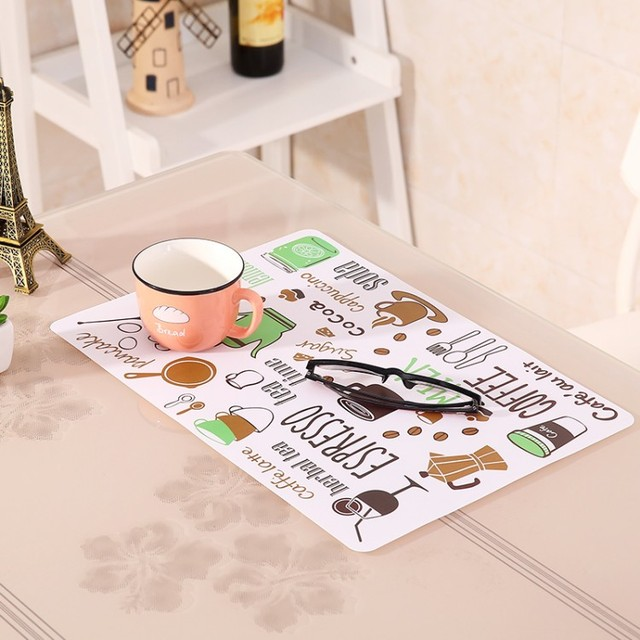 1 PCS Non Slip Heat Resistant Dining Table Mats Coffee Cup Multifunction  Square Hung Waterproof