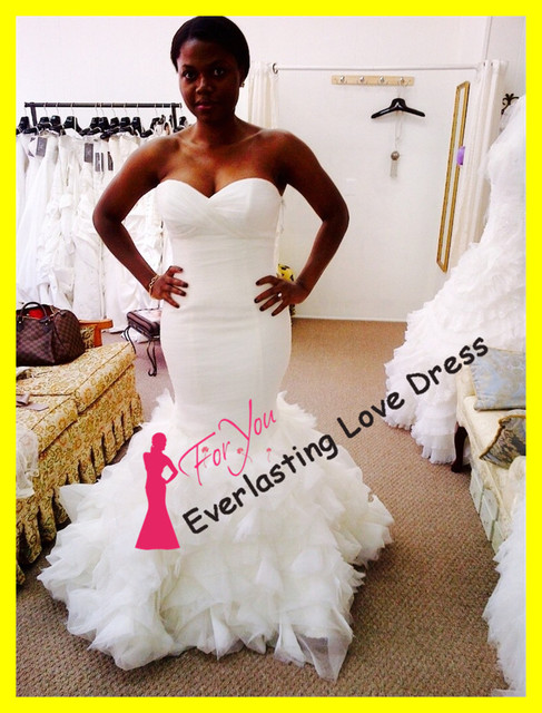Flowy Wedding Dresses Discount Plus Size Hippie Dress Black Tie S Style  Mermaid Floor-Length Chapel Train Ruffles Sw 2015 Outlet 06de51085