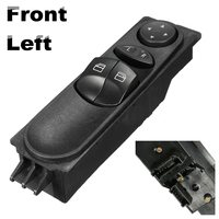 Window Switch For Mercedes Front Left Master Electric Power Control Sprinter W906 Plastic Black 1PCS
