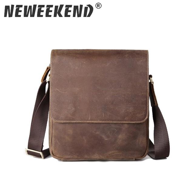 Genuine Leather Bag Men Bags Messenger Casual Boy S School Crossbody Shoulder Handbags 3823
