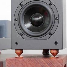 4 סט אודיו סקויה בולם הלם קוצים עבור רמקולים מפענח CD amp לשפר את צליל מגבר רמקול קונוס