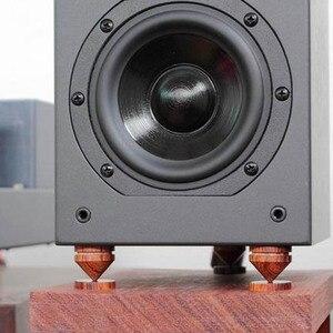 Image 1 - 4 Set audio redwood absorber Shock Spikes for Speakers Decoder CD amp Improve the sound Amp cone speaker