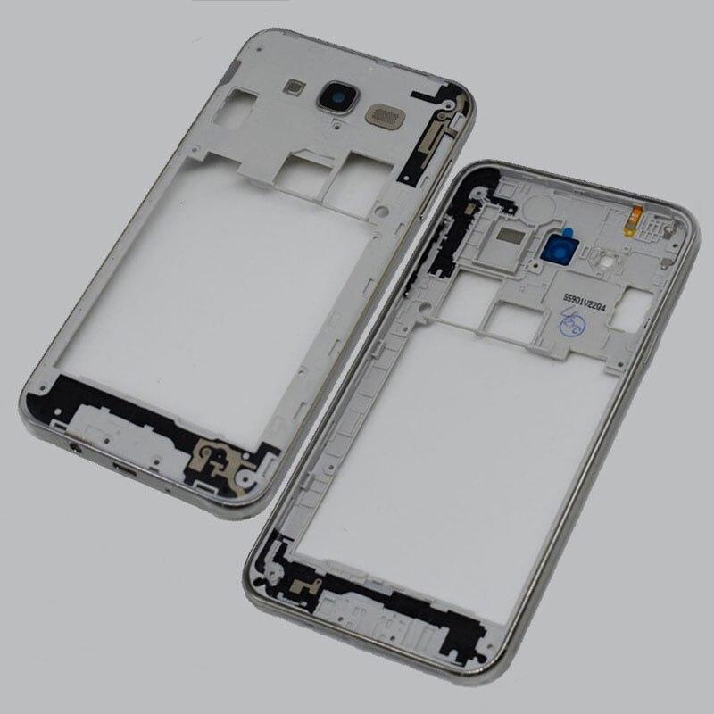 Original For Samsung Galaxy J7 2015 J700 J700F Middle Frame Plate Bezel Housing Cover silver black gold color