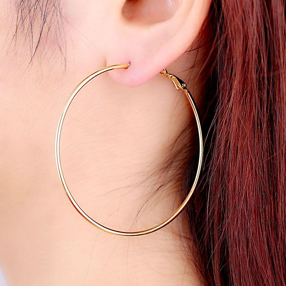 2019 Women Hoop Fashion S Exaggerated Loop Round Ring Earrings Circle Retro Jewelry Penntes Punk Earing In From