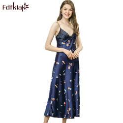 Fdfklak сексуальные ночные рубашки Lounge платье 2018 новые летние Спагетти ремень пикантные женские рубашки женские пижамы Ночная рубашка Q972