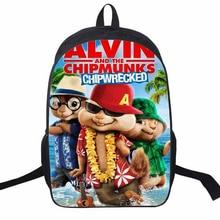 Schöne Kinder Rucksack Cartoon Alvin Und Die Chipmunks Druck Rucksack Für Kind Junge Mädchen Schule Schultertasche Nylon Buch Tasche