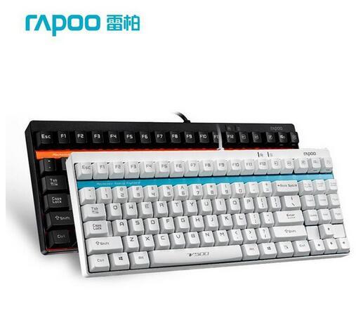Rapoo V500 87 Gaming Mechanical Keyboard ABS Keycap USB N-key Rollover Rapoo MX Black/Blue/Brown/Yellow Switches клавиатура asus strix tactic pro cherry mx black black usb 90yh0081 b2ra00