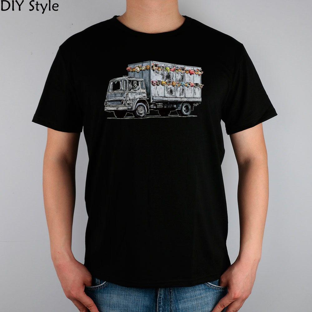 IC BANKSY STYLE TOY TRUCK t-shirt top Lycra cotton Fashion Brand t shirt men new DIY Style High Quality