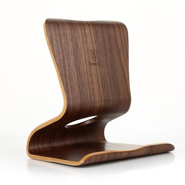 BASEUS Pure Walnut Wood Soporte de Escritorio Universal Tablet PC Del Sostenedor Del Soporte Para el ipad aire iPad mini 2 3 4