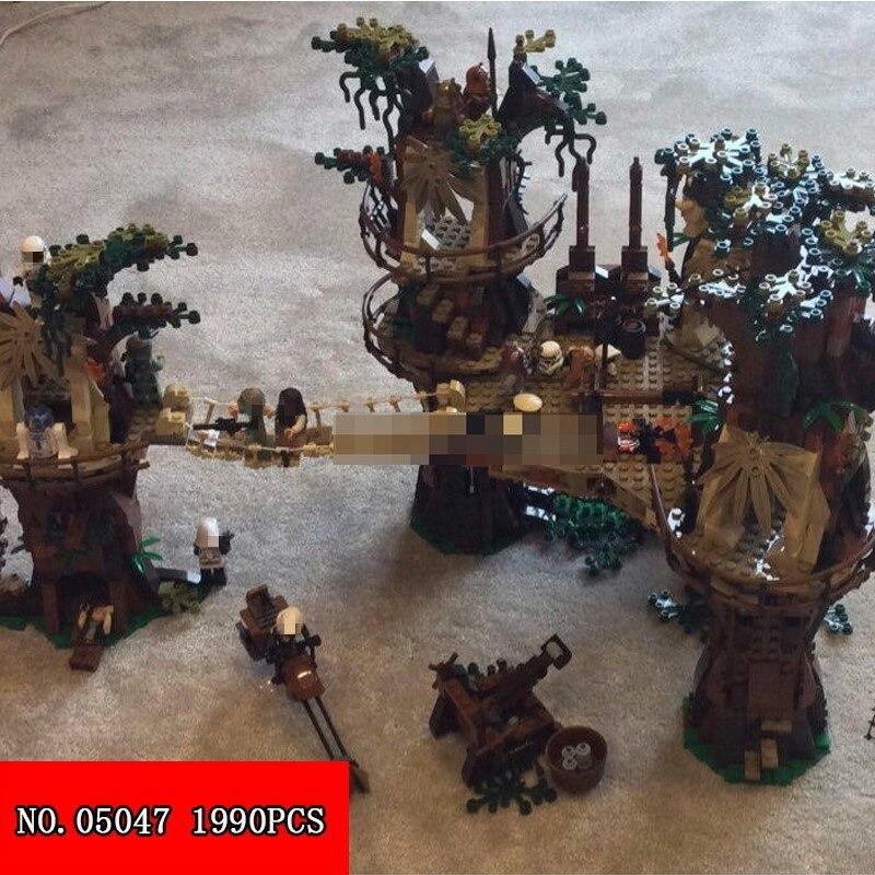Nouveaux blocs de construction 05047 Star Wars série Ewok petit ours Village assemblage bloc jeunes enfants jouets 1990 pièces
