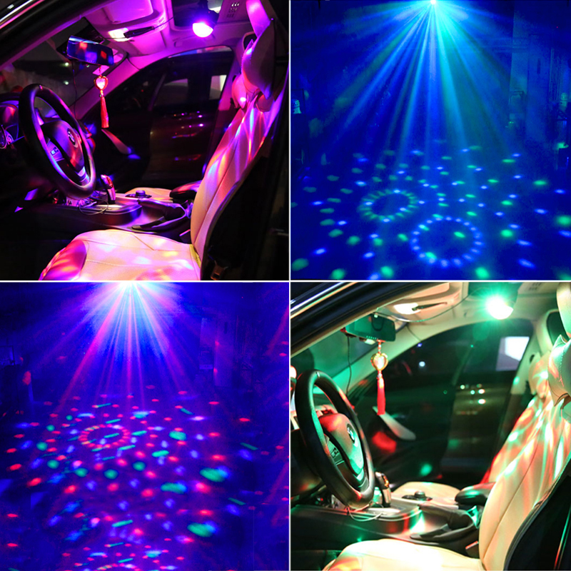 TRANSCTEGO Disco Light USB Party Laser For Car DJ Magic Ball - Kommersiell belysning - Bilde 3