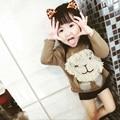 Niños suéteres de invierno niñas niño de punto de Algodón unisex de dibujos animados león suéteres muchachas de La Manera de la rebeca