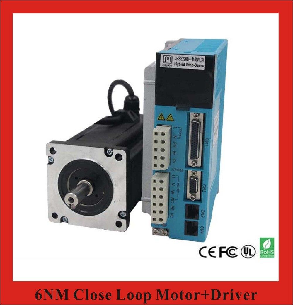 3 Phase NEMA34 6NM Closed Loop Stepper Servo Motor Driver Kit for CNC Cutting Machine Engraving Machine closed loop 2n m nema 23 2 phase step servo driver kit stepper driver 2hss57 motor 57j1880ec 1000 sm742 sd
