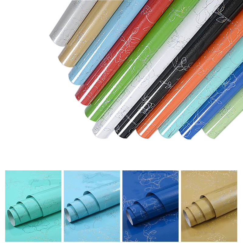 New Waterproof Self Adhesive PVC Vinyl Wallpaper Sticker Roll For Kitchen Furniture Desktop Fridge Wall Modern Home Decorative