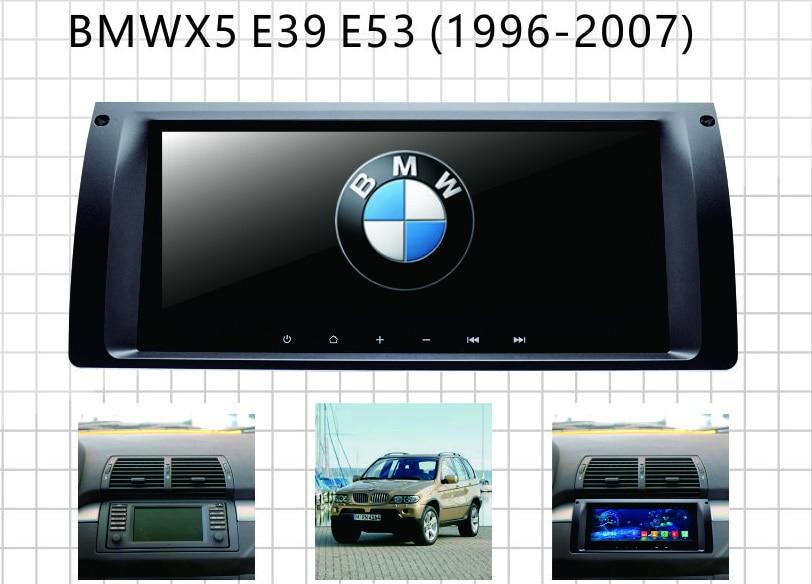 Système de multimédia de voiture pour BMW E39 E53 BMW X5 android gps auto radio navigateur de voiture avec RDS téléphone livre lien de miroir carte gratuite