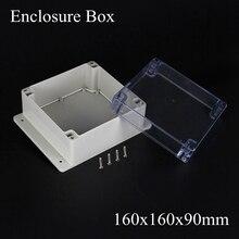 160*160*90 мм IP66 ABS Водонепроницаемый электронный корпус проект коробка Распределения переключатель junction outlet case Clear крышка
