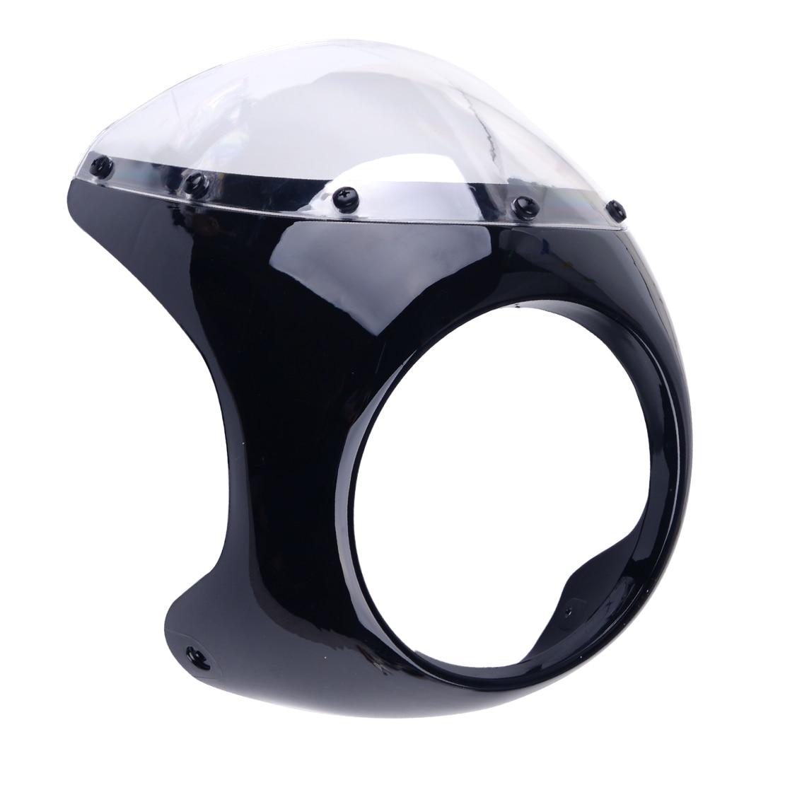 CITALL High Quality Motorcycle Black Plastic 17cm Headlight Fairing Screen Retro Cafe Racer Style Drag Racing