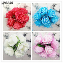 144 pcs/bag Hot Handmade 20mm Satin Rose Ribbon Rosettes Fabric Flower DIY Wedding Decor Bow Appliques Craft Sewing Accessories