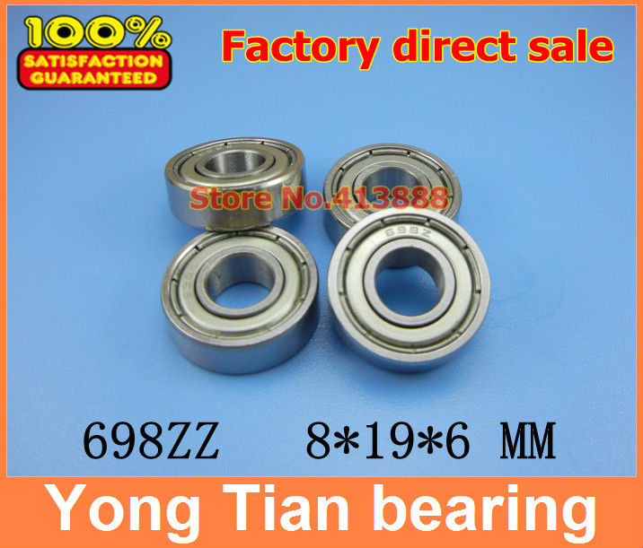 500pcs free shipping thin wall deep groove ball bearing 698ZZ 8*19*6 mm-in Shafts from Home Improvement    1