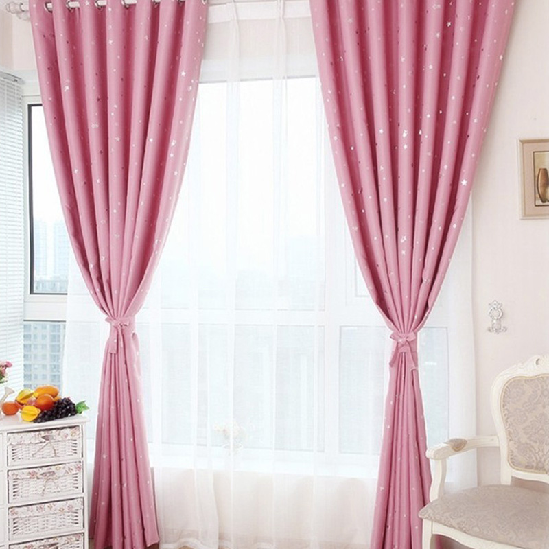 Starry Sky French Window Panel Divider blackout Curtain Window ...