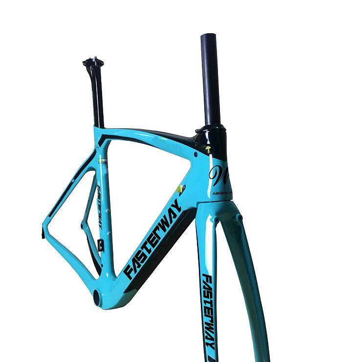 fasterway XR4 taiwan made carbon frame road bike T1100 UD dark blue black frameset carbon Frameset