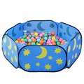 Indoor children's play toy tent outdoor portable blue sky ocean ball pool game pool free shipping parent-child interaction
