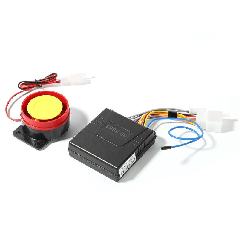 12V Universal Motorcycle Alarm System Remote Control Anti-theft Security Alarm Moto Buzzer Security System Moto Accessories