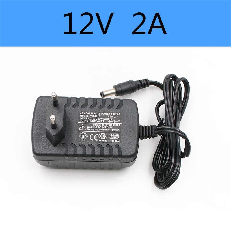 1 шт. 100-240 В переменного тока в постоянный адаптер питания зарядное устройство 5 в 6 в 9 в 12 В 24 В 0.5A 1A 2A 3A ЕС Штекер 5,5 мм x 2,1 мм светодиодный USB световая полоса телефона