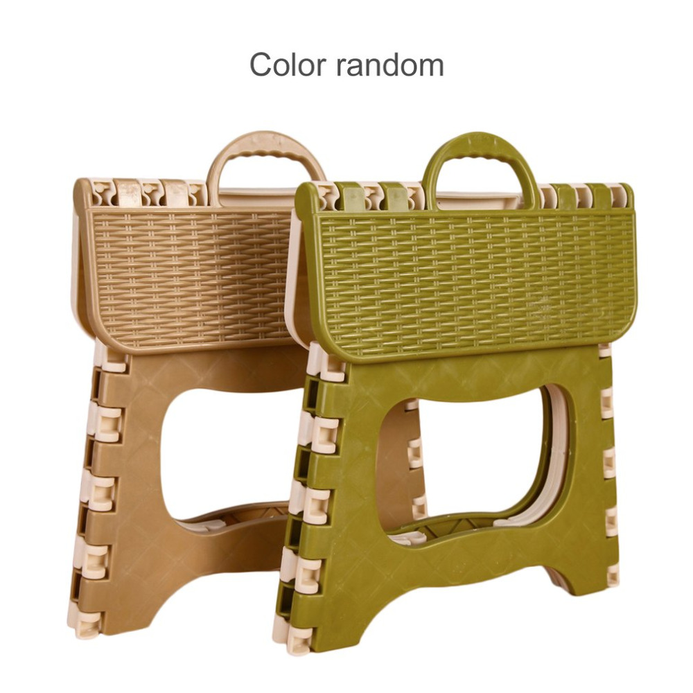Plastic Chair Stool Easy-Storage Folding Kitchen Comfortable Home Space-Saving Multifunctional