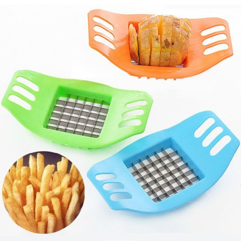 Creative Kitchen Gadgets Potatoes Cutter Cut into Strips French Fries Tools Prac