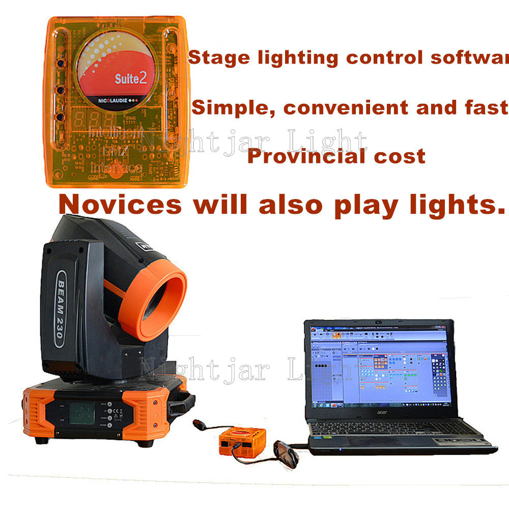 DMX Controller Sunlite Suite 2 FC+ USB Lighting Interface For Moving Head Light Stage Lighting