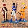 Free Shipping 3Pcs Set Japanese Anime Cartoon Naruto 14cm Uchiha Sasuke Uzumaki Naruto Sabaku No Gaara