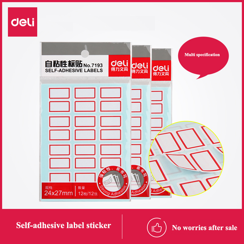 120 Sheets/10bags Deli Self-adhesive Labels Self Adhesive Sticker Marker Various Sizes Optional Wholesale